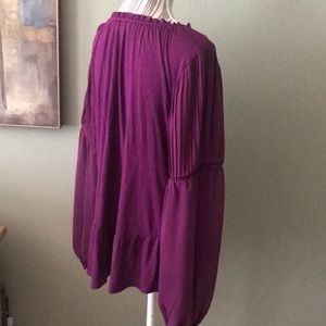 White House Black Market Tops - WHBM purple blouse, STUNNING